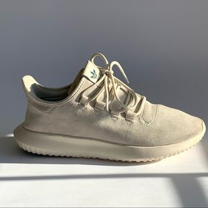 Adidas cream suede tubular sneakers GUC